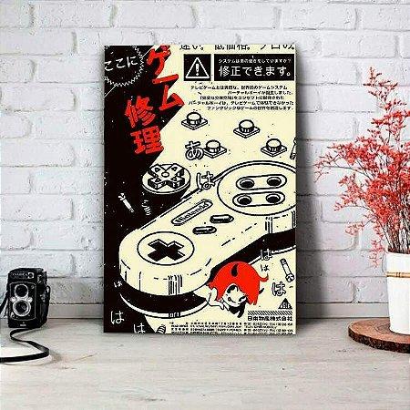 Placa Decorativa Controle de Nintendo Japonês