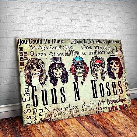 Placa Decorativa Guns n' Roses 6