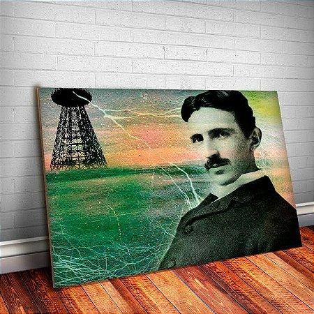 Placa Decorativa Nikola Tesla 3