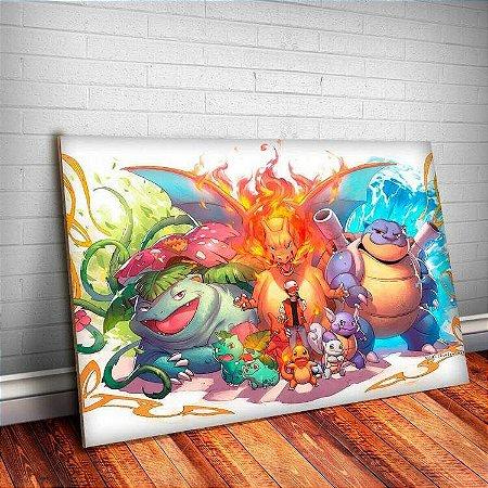 Placa Decorativa Pokemon 16 Evoluções