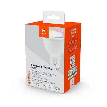 Lâmpada smart wi-fi dicrónica hig10qf bivolt - Geonav