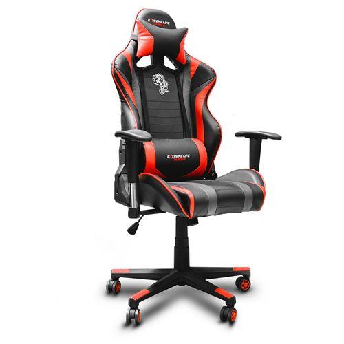 Cadeira Gamer ELG Black com Apoio para Cervical - Hawk