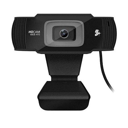 Webcam 5+ Web-h75 Usb 720p Hd 30 Fps Microfone P2 - Chipsce