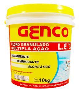 Cloro Granulado Multiação 3x1   Genco   10 Kg