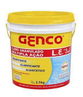 Cloro Granulado Multiação 3x1 | Genco |2,5 Kg