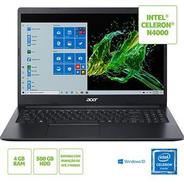 NOTEBOOK ACER 15,6 HD A315-34-C5EY/ CELERON N4000/ 4GB/ 500G