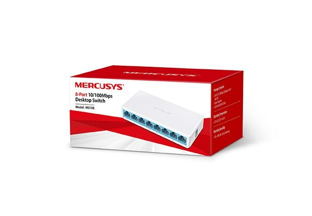 SWITCH 8 PORTAS 10100MBPS MERCUSYS MS108