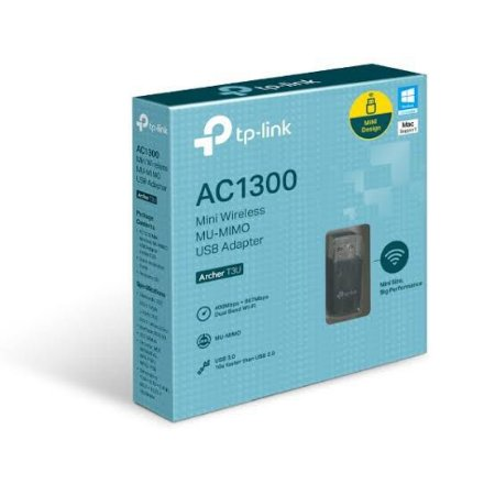 ADAPTADOR WIRELESS TP LINK USB ARCHER T3U MINI MU MIMO AC1300