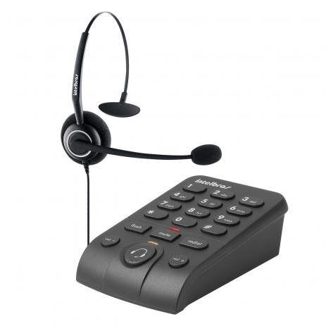 TELEFONE HEADSET COM BASE DISCADORA INTELBRAS HSB50 PRETO