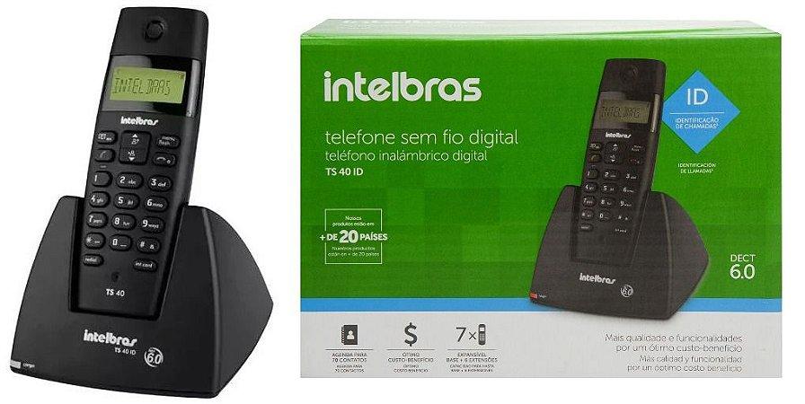 TELEFONE INTELBRAS TS40 ID SFIO PRETO