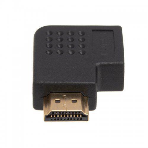 Adaptador HDMI em L macho-femea esquerda