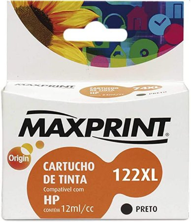 CART TINTA MAXPRINT COMP HP BLKG CH563/N.122X MAX 1 PC