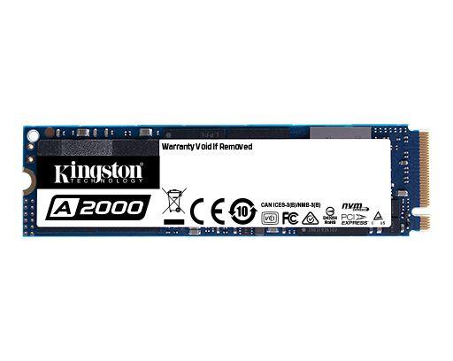SSD KINGSTON 1TB A2000 M.2 2280 NVME PCIE 3.0 - SA2000M8/100