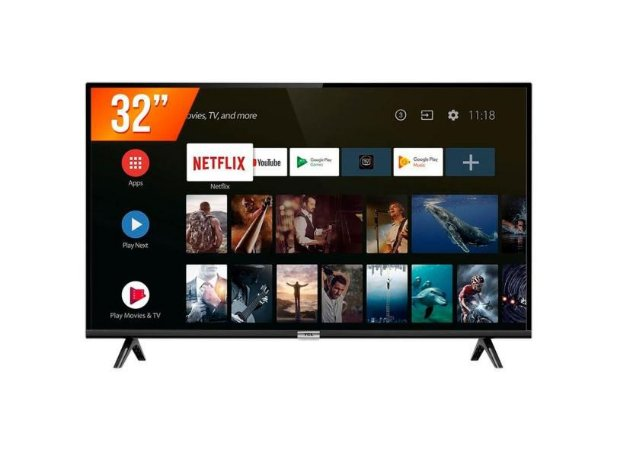 TV 32 LED TCL 32S6500S SMART ANDROID TV HD 1 USB2 HDMI PVR R