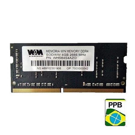 MEMORIA 4GB DDR4 2666MHZ WINMEMORY - NOTEBOOK