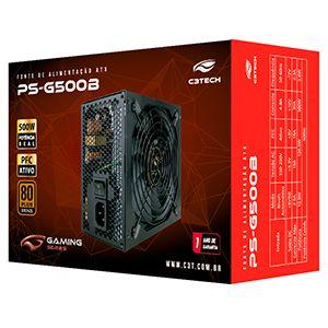 FONTE ATX 500W PS-G500B 80 PLUS BRONZE C3 TECH