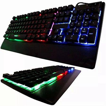 TECLADO GAMER SEMI MECANICO USB RGB WEIBO WB-100