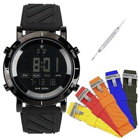 Relógio Masculino Tuguir Digital TG6017 Preto-