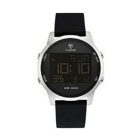Relógio Masculino Tuguir Digital TG7003 - Preto e Prata-