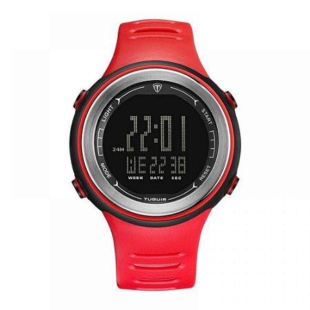 Relógio Unissex Tuguir Digital TG001 - Vermelho e Preto