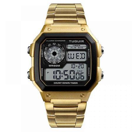 Relógio Unissex Tuguir Digital TG1335 - Dourado e Preto