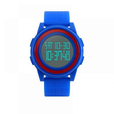 Relógio Unissex Skmei Digital 1206 - Azul e Vermelho