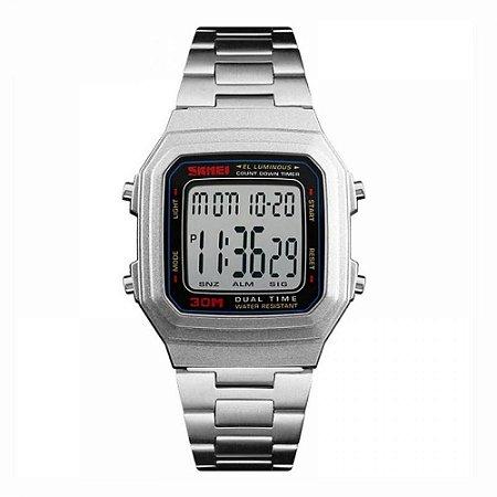 Relógio Unissex Skmei Digital 1337 - Prata