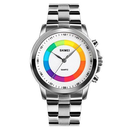 Relógio Unissex Skmei Analógico 1491 - Prata