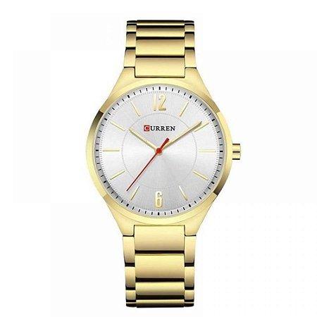 Relógio Unissex Curren Analógico 8280 - Dourado