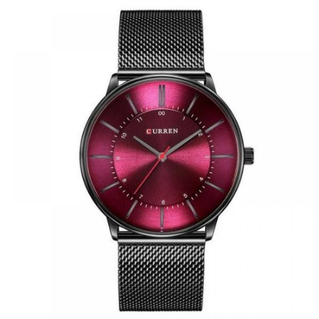 Relógio Unissex Curren Analógico 8303 - Preto e Bordo
