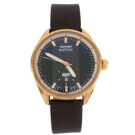 Relógio Masculino Analógico Berze BT170M Marrom e Preto-
