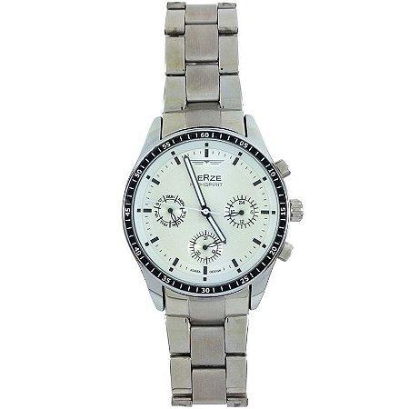 Relógio Masculino Analógico Social Berze BS071 Prata-