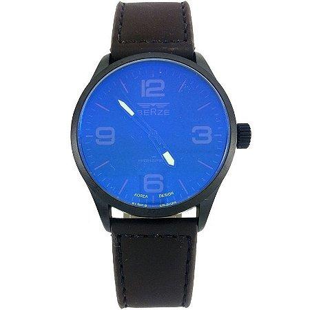 Relógio Masculino Analógico Social Berze BT168 Marrom-