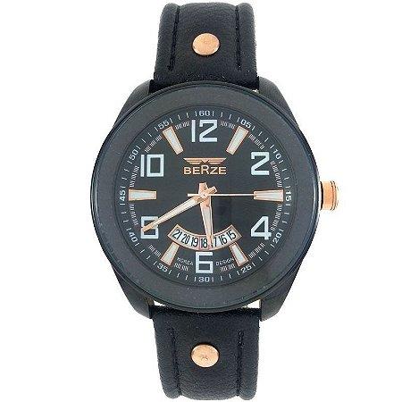 Relógio Masculino Analógico Social Berze BT173 Preto-