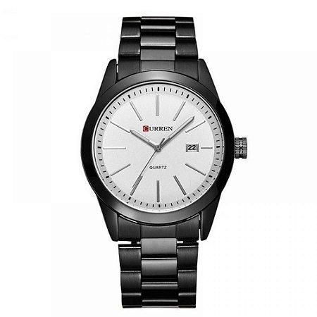 Relógio Masculino Curren Analógico 8091 - Preto e Branco