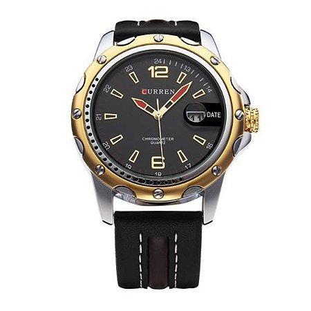 Relógio Masculino Curren Analógico 8104 Preto-