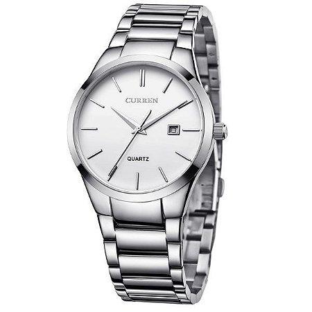 Relógio Masculino Curren Analógico 8106 Prata-