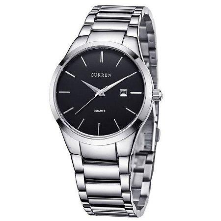 Relógio Masculino Curren Analógico 8106 Preto-