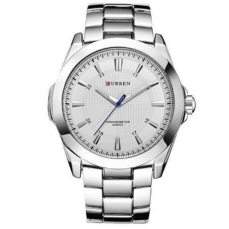 Relógio Masculino Curren Analógico 8109 Branco-