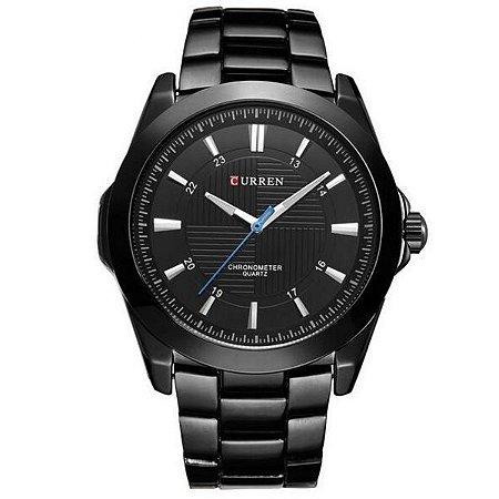 Relógio Masculino Curren Analógico 8109 Preto-