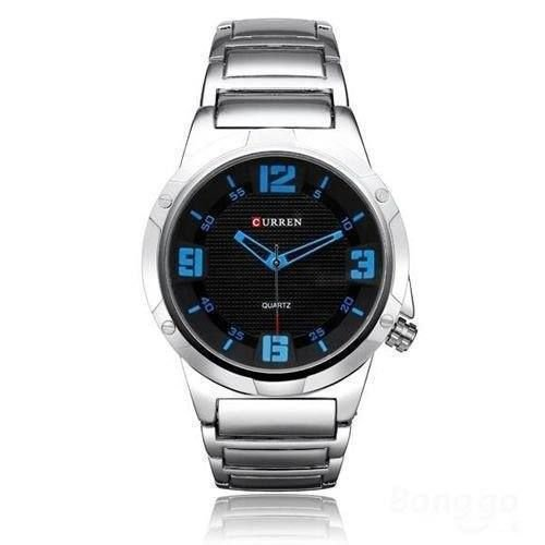 Relógio Masculino Curren Analógico 8111 - Prata e Azul