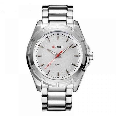 Relógio Masculino Curren Analógico 8112 - Prata e Branco