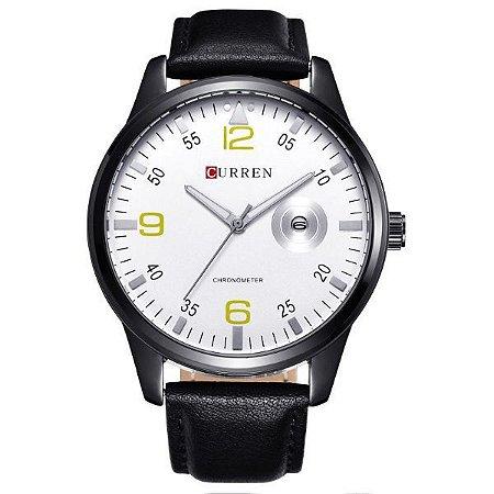 Relógio Masculino Curren Analógico 8116 Prata-