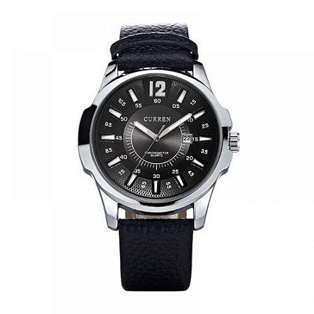 Relógio Masculino Curren Analógico 8123 Prata e Preto