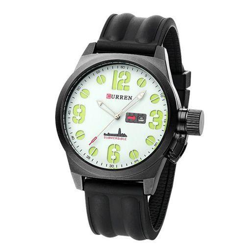 Relógio Masculino Curren Analógico 8127 Preto e Branco-