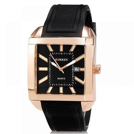 Relógio Masculino Curren Analógico 8145 - Preto e Bronze