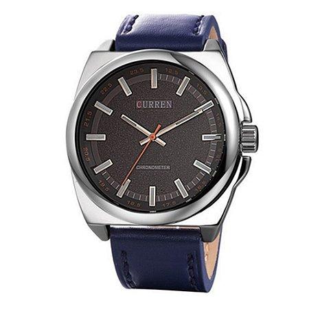 Relógio Masculino Curren Analógico 8168 - Azul e Prata