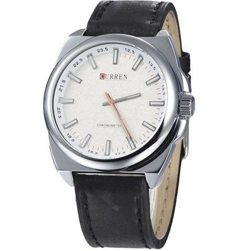Relógio Masculino Curren Analógico 8168 - Preto e Prata-