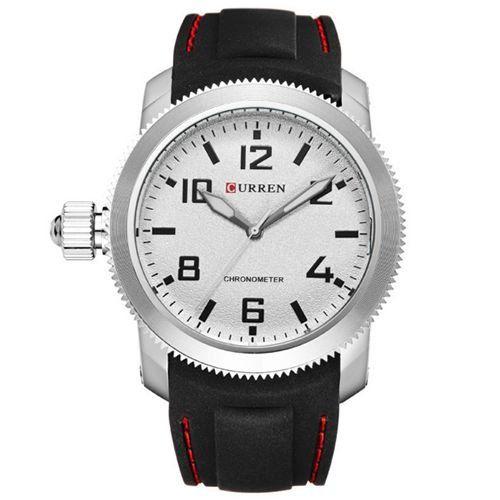 Relógio Masculino Curren Analógico 8173 Preto e Prata-