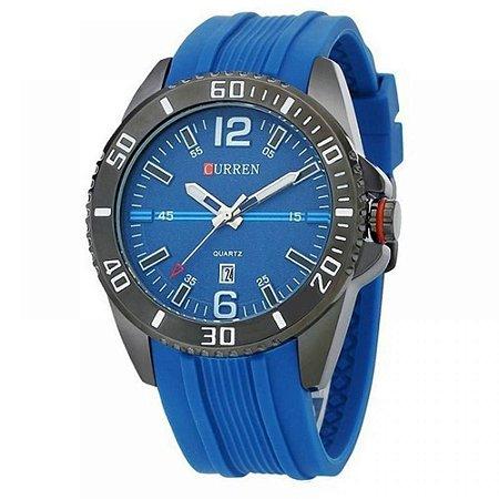 Relógio Masculino Curren Analógico 8178 - Azul